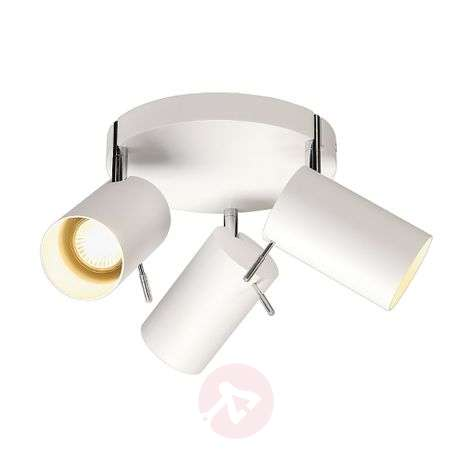Round Asto Tube Ceiling Spot 3 Lamp White