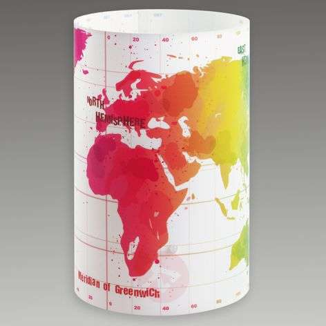 Round children's table lamp Map
