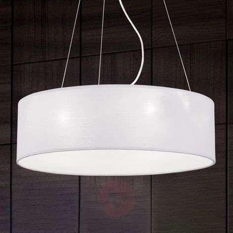 Round fabric pendant light Ufo, white lampshade-7255354-31