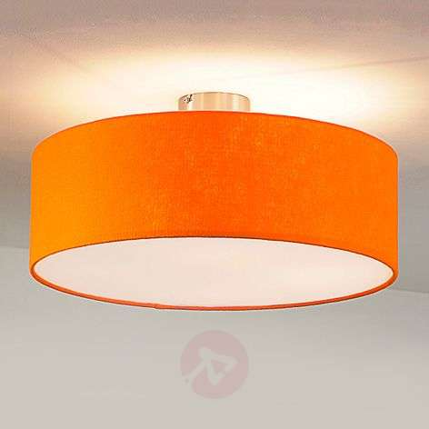 Round felt ceiling light, orange