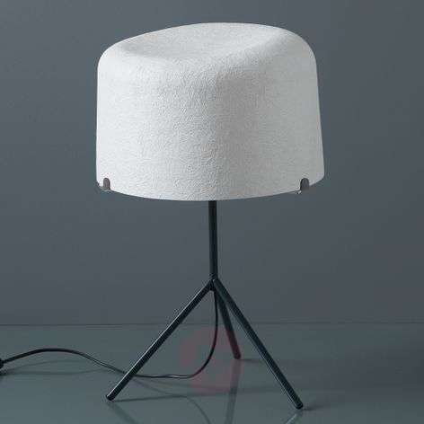 Round fibre glass lampshade - Ola table lamp