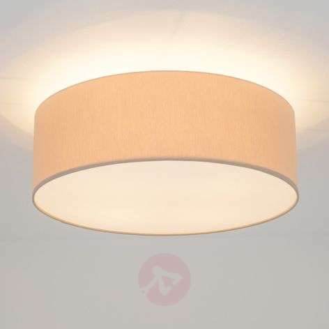 Round Gala LED ceiling light with chintz shade