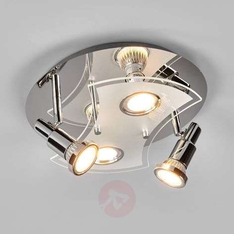 Round LED ceiling lamp Marty, 4-bulb