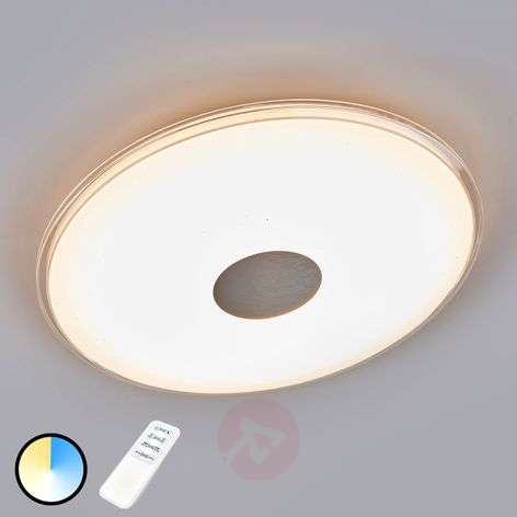Round LED ceiling light Shogun with glitter effect