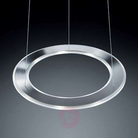Round LED hanging light Sima, stainless steel