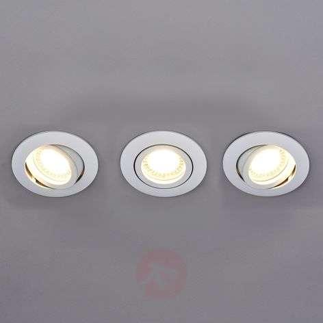 Round LED installed spotlight Lisara in white