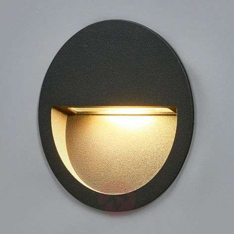 Round LED recessed wall light Loya