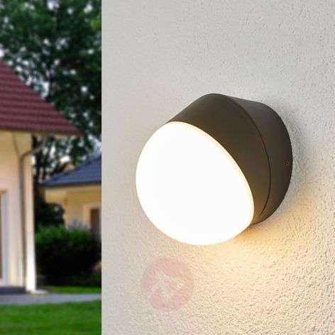 Round LED sensor outdoor wall lamp Fjodor