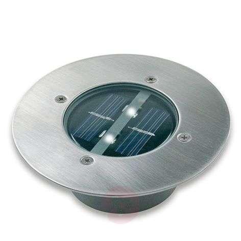 Round Lugo solar LED deck light - IP44