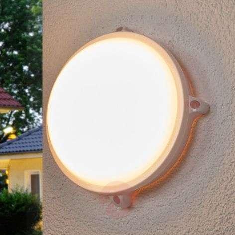 Round Mondo LED outdoor light in white