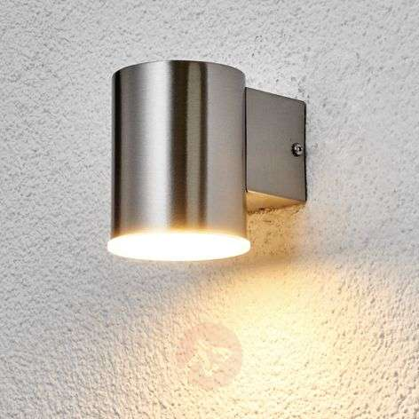 Round Morena LED stainless steel wall light