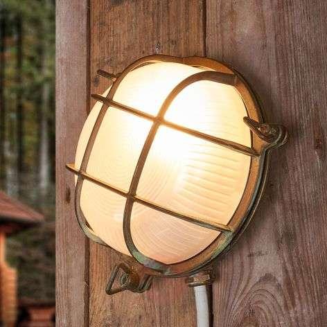 Round outdoor wall light Bengt antique brass-6515266-31