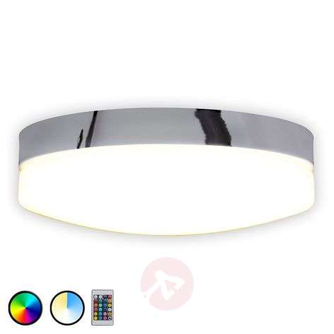 Round Paris LED ceiling lamp with remote control