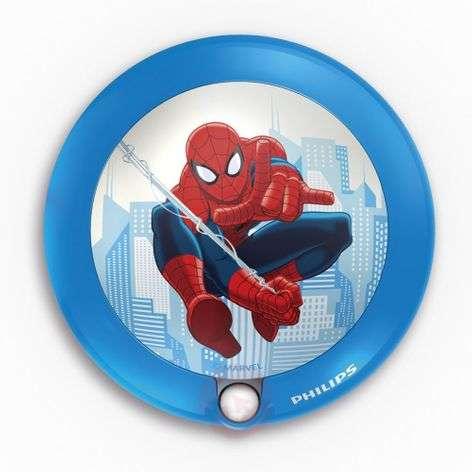 Round Spiderman LED night light