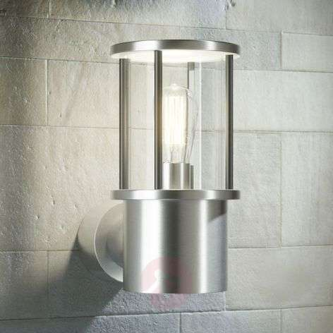 Round stainless steel outdoor wall lamp Minna