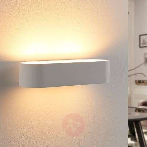 Rounded plaster wall lamp Fioni, LED