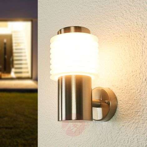 Roxy stainless steel outdoor wall light with LEDs-9988119-31