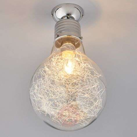 Rubi - ceiling lamp in the shape of a light bulb