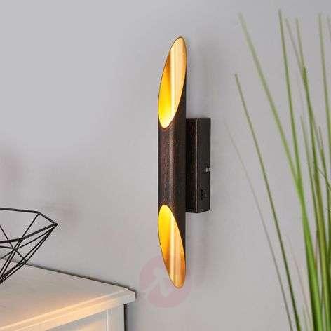 Rust-coloured Bolero LED wall light, golden inner
