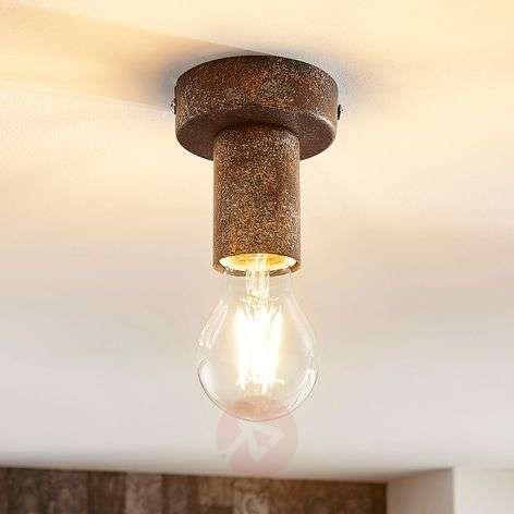 Rust-coloured ceiling light Jake