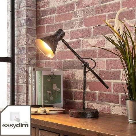 Rust-coloured LED table lamp Zera, Easydim