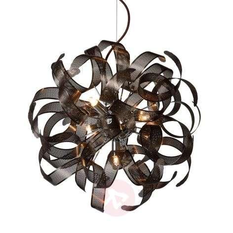 Rust-coloured pendant light Atoma