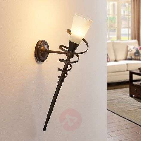 Rust-coloured Tjark LED wall torch