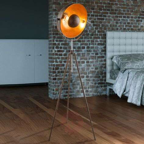 Rust-coloured Xirena I tripod floor lamp