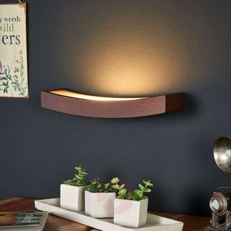 Rust Dolce LED wall light with indirect light