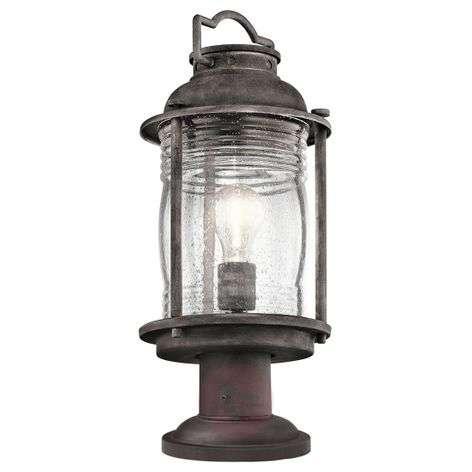Rustic Ashland Bay pillar light