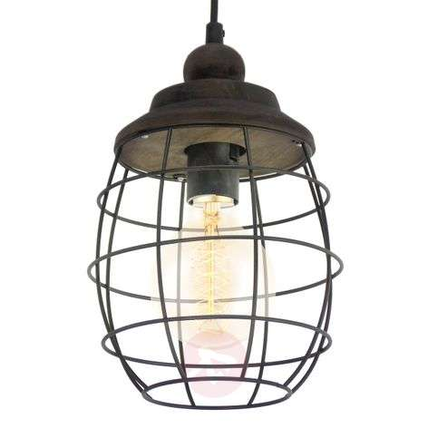 Rustic-design Bampton hanging light