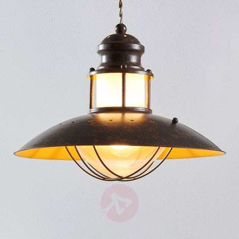 Rustic Louisanne pendant lamp in brown