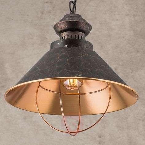Rustic pendant lamp Shanta, one-bulb
