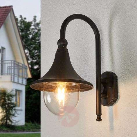 Rusty brown outdoor wall lamp Daphne