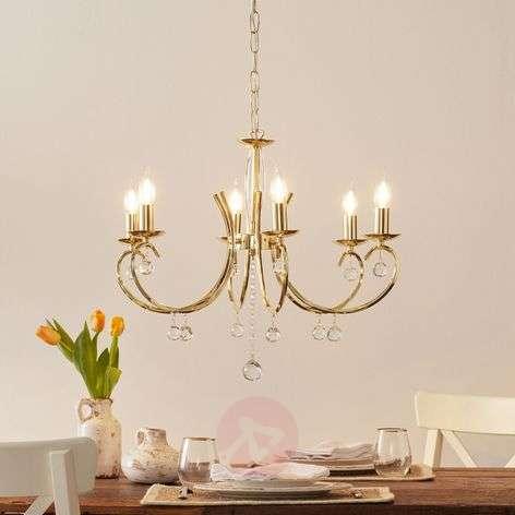 Sala Chandelier Elegant Polished Brass Six Bulbs