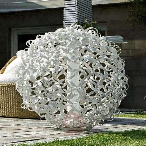 Salsola designer light for outdoors, white, 48 cm