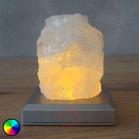 Salt Mountain battery-powered LED table lamp