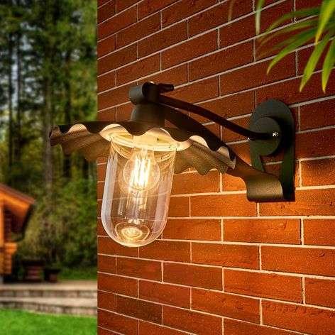 Samba - protruding outdoor wall light in black