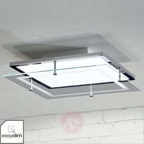 Sandra Easydim LED ceiling lamp with glass panel