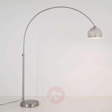 Satin-finished arc floor lamp LOUNGE