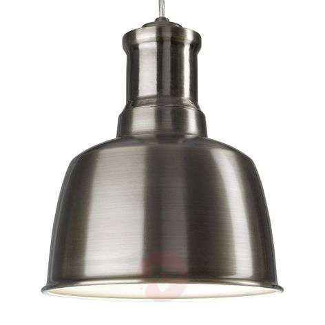 Satin-finished metal pendant light Chicago