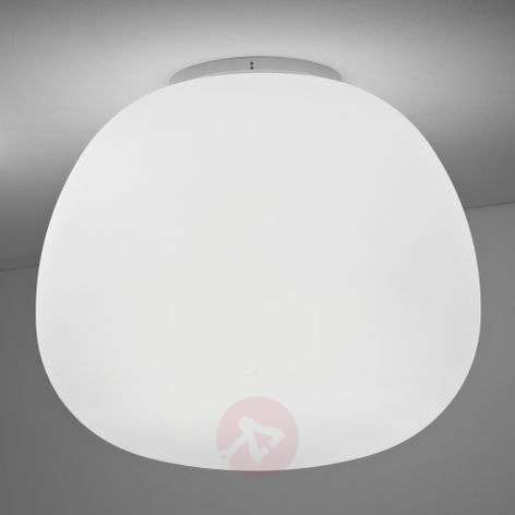 Satin-white Mochi ceiling light E27