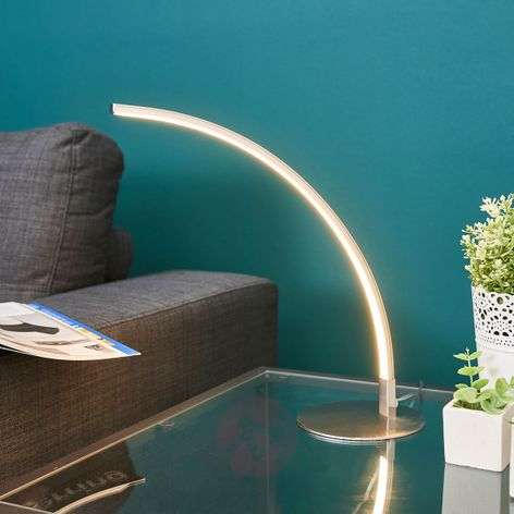 Savio curved LED table lamp