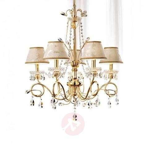Scarlett exquisite crystal chandelier, 5-bulb