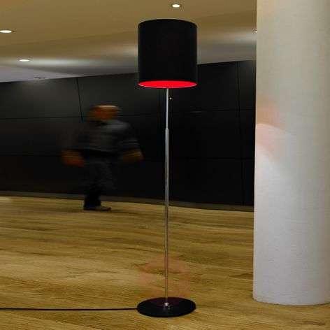 Schnepels designer floor lamp, anthracite-red