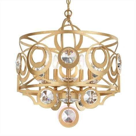 Schonbek Gwynn crystal hanging light 53 cm gold