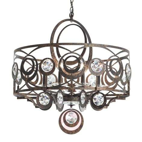 Schonbek Gwynn crystal hanging light 71cm bronze