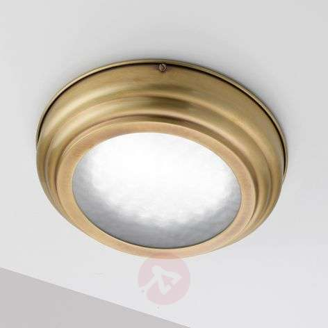 Scirocco LED ceiling light in satin-finished brass