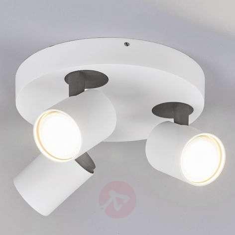Sean 3-bulb round LED ceiling spotlight