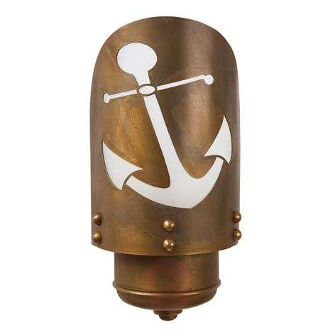 Seawater-res. outdoor wall light Cara with anchor
